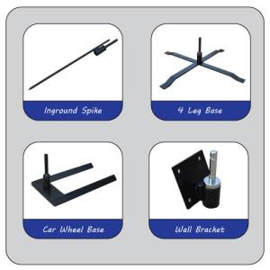 Display Pole Bases