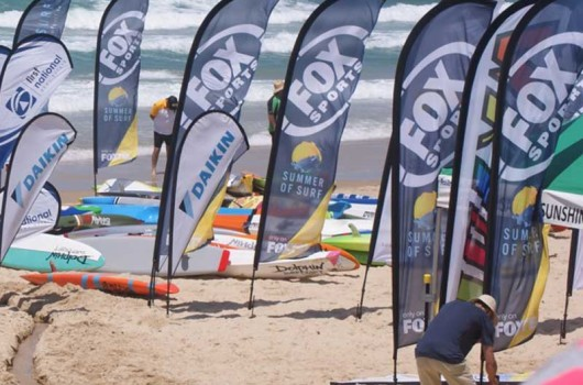 beach feather banner flags