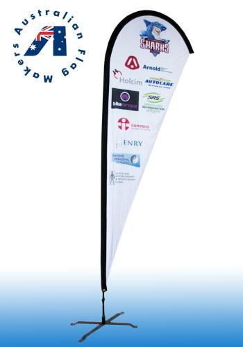 teardrop banners-sharkes
