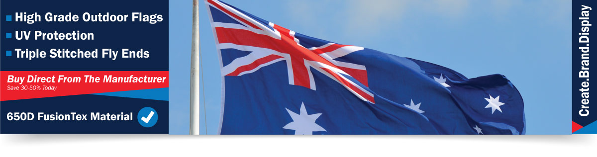 Australian flag banner display