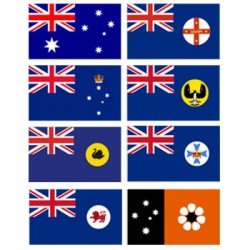 Super Knit Australian State Flags