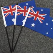 Australian Hand Flags