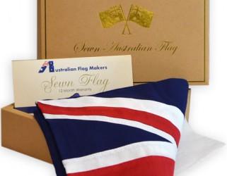 sewn australian flag boxed