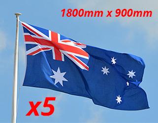 Buy Australian Flag x5