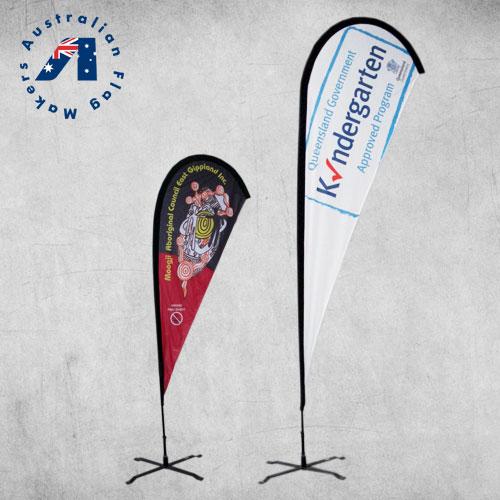Teardrop banner Flags Custom