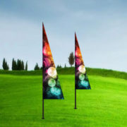 triangle banner flags