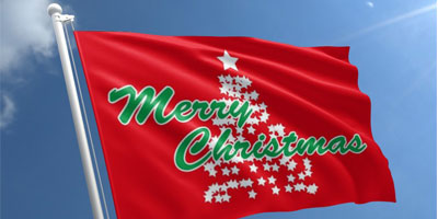 christmas flags banner