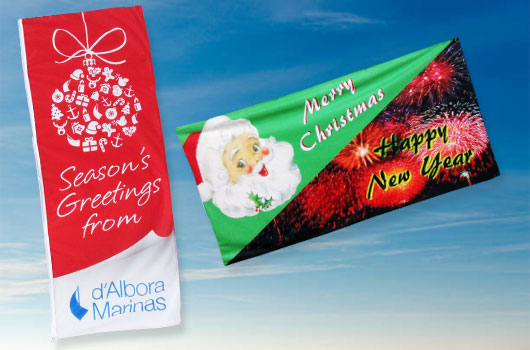 Season Christmas Flags