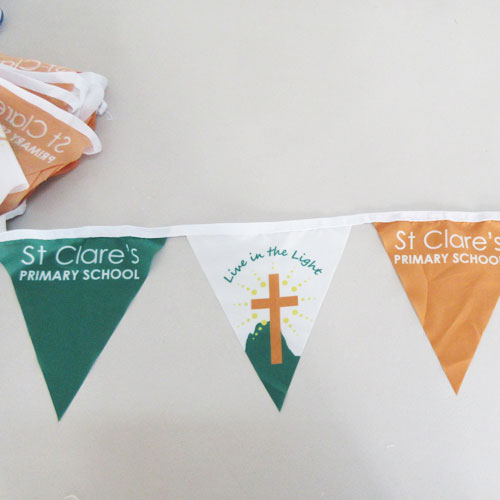 custom flag bunting for schools