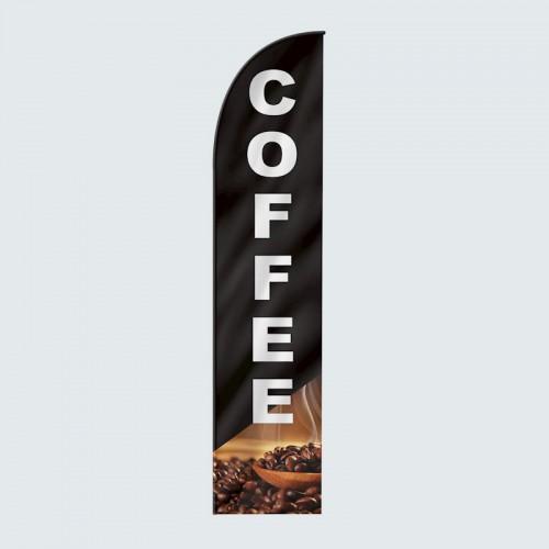 Coffee Brew Feather Flag