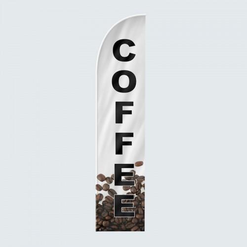 Coffee Bean Feather Flag