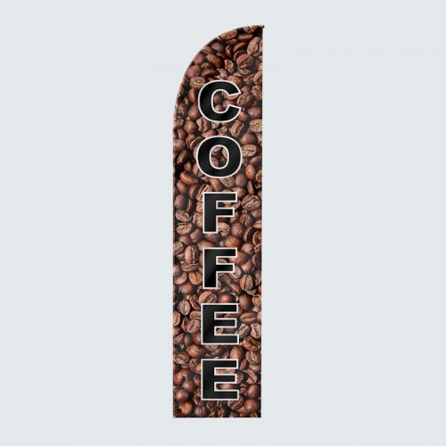 Coffee Beans Feather Flag