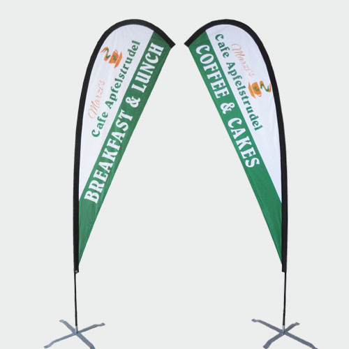 Teardrop Flag 350cm Standing Height - Double Sided