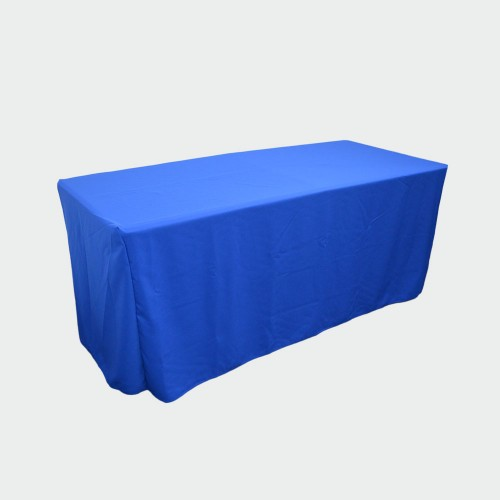6ft Fitted BLUE Closed Back Table Cover