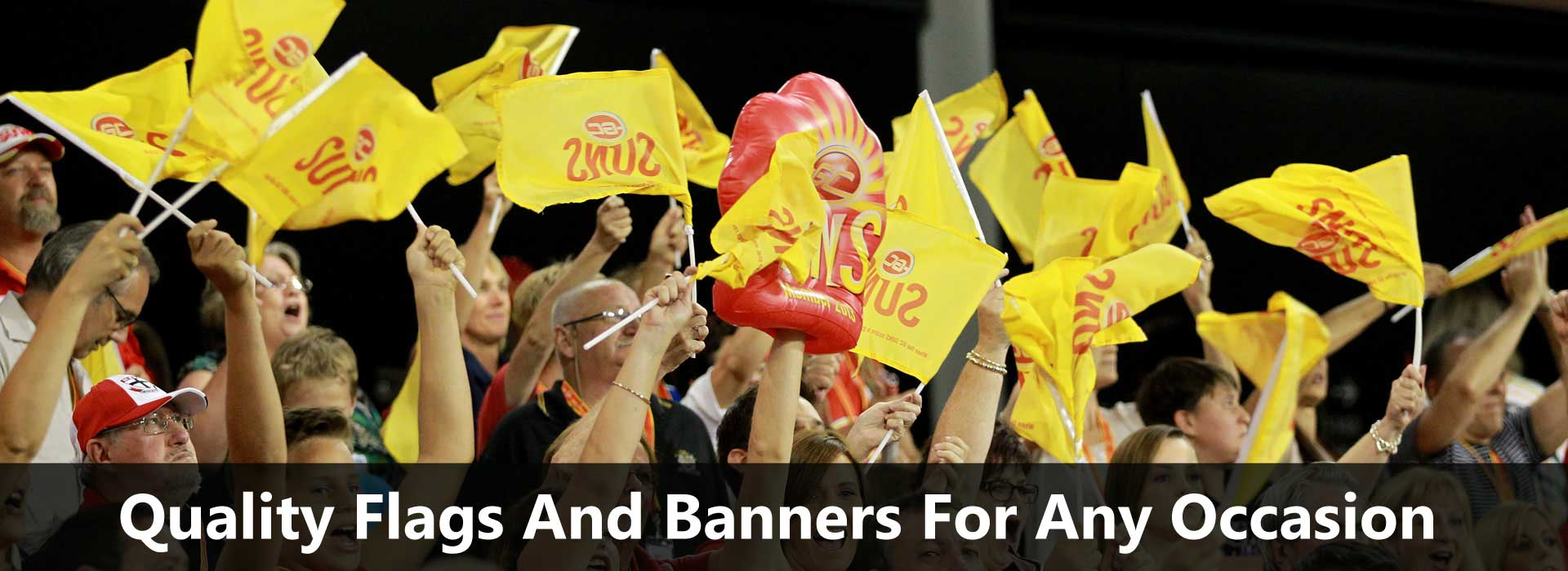 hand flags and banners