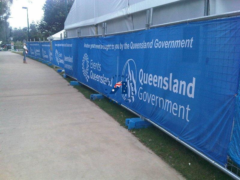 Queensland Goverment Polyester banner Mesh