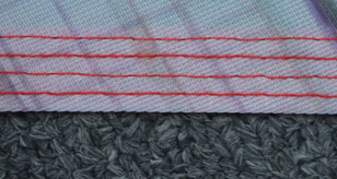 four row stitching