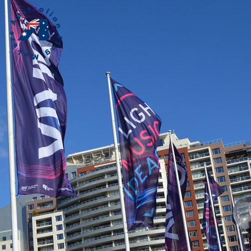 street banner flags