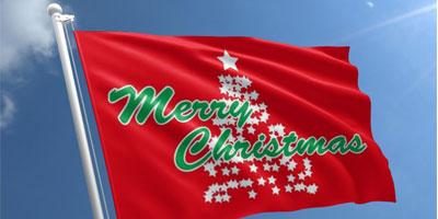 christmas flags banner