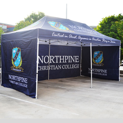 printed marquees and tents